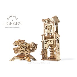 UGears 3D-пазл механический Ugears - Башня-аркбаллиста
