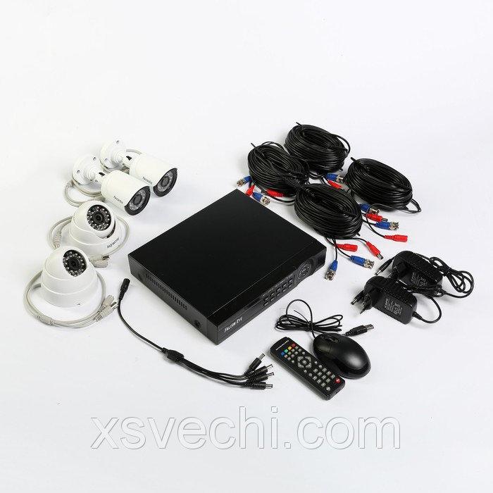 Комплект видеонаблюдения Falcon Eye FE-104MHD KIT Офис, 1 Мп, 720Р (HD), 2 уличные камеры