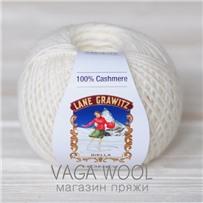 Пряжа Кашемир Honey белый 1006, 175м в 50г