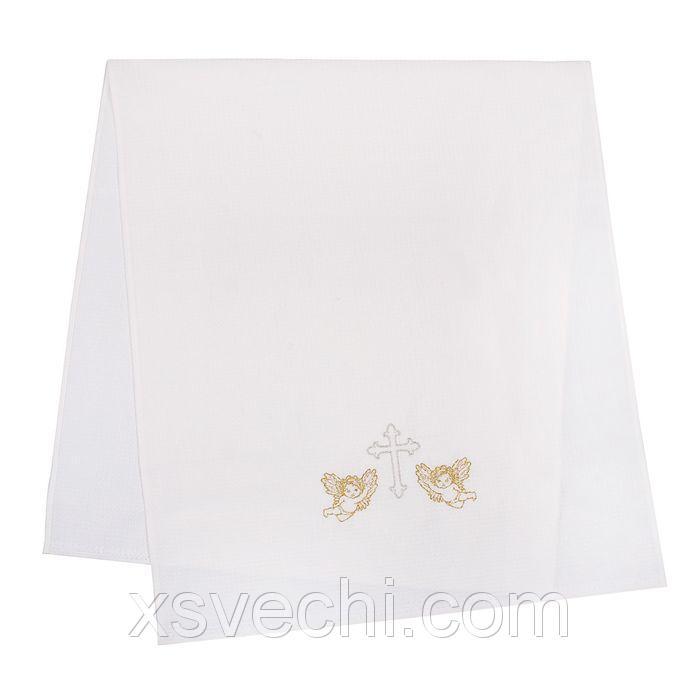 """Полотенце вафельное для крещения """"Ангелы"""" 70*150 см, хлопок 100%,225 гр/м"""