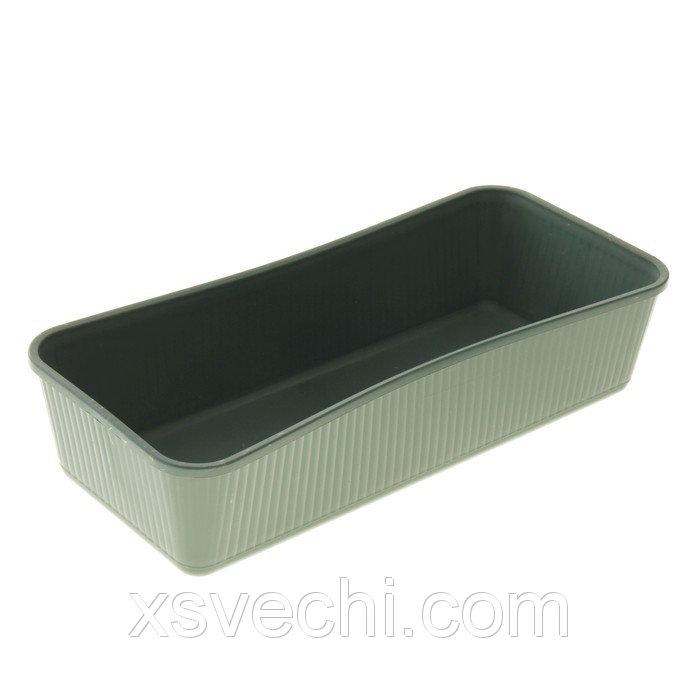 Ящик для рассады, 41 х 18.5 х 9 см, зелёный
