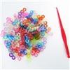 Набор Застёжки цветные (клипсы) s-формы для плетения браслетов Loom Bands 200 шт