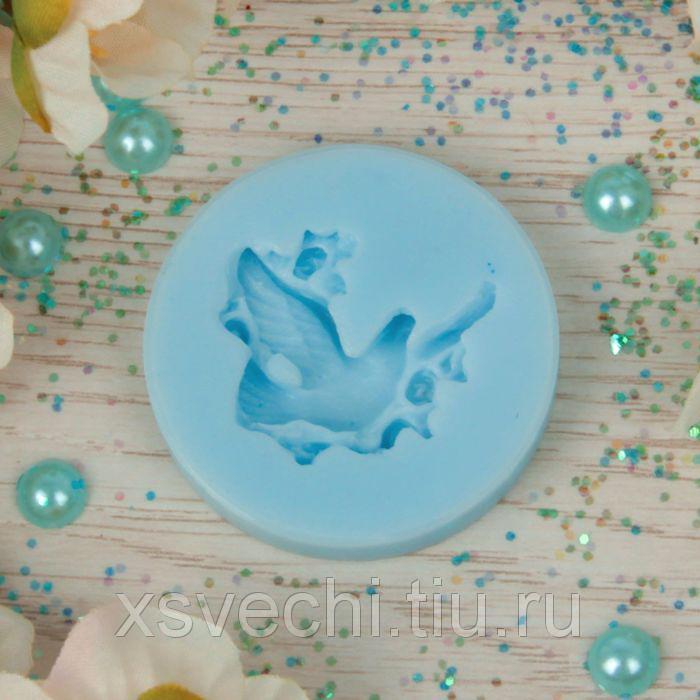 """Молд силикон для полимерной глины №045 """"Голубка"""" 3х3 см"""