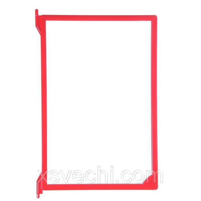 Рамка пластиковая для перекидной системы A4 , цвет красный
