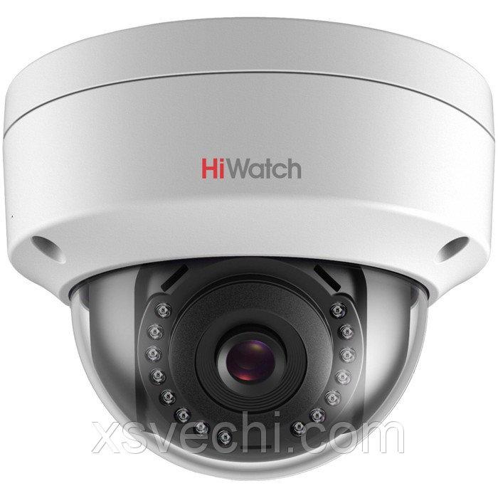 Видеокамера антивандал Hiwatch DS-I202 (2.8 mm), IP, 2 Мп, 1080Р (FullHD), POE