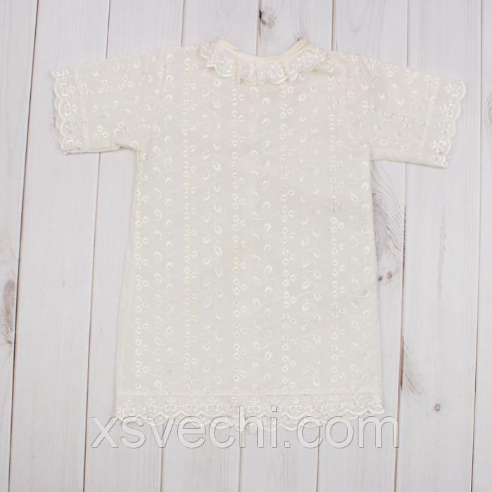 Платье крестильное, рост 68 см, цвет шампань 15013_М