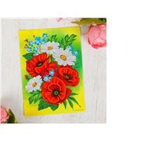 """Картина пайетками """"Маки"""", арт. 2805059"""