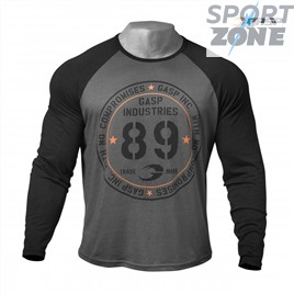 Футболка с длинным рукавом GASP Raglan Long Sleeve Tee, Dark Grey