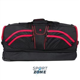 Дорожная сумка ALPHA DUFFLE чёрный/красный