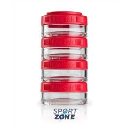 Шейкер для спортивного питания BlenderBottle GoStak красный