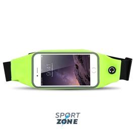 Сумка-чехол спортивная на талию водонепроницаемая, универсальный чехол для смартфонов. Салатовая.