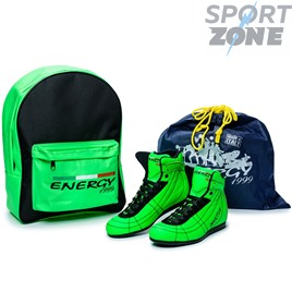 Кроссовки ENERGY 1999 INVICTUS LEATHER GREEN FLUO