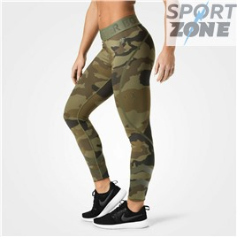 Лосины Better Bodies Chelsea tights, Dark green camo
