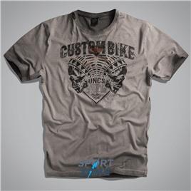 Мужская футболка US CUSTOMBIKE GREY UNCLE SAM