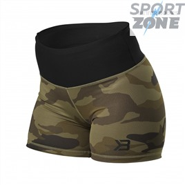 Шорты с высокой талией Better Bodies Chelsea Hotpant, Dark Green Camo