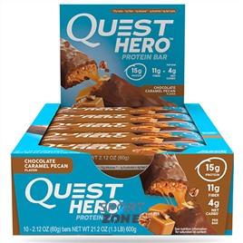 Батончик протеиновый Quest Hero Bar Chocolate Caramel Pecan (10 бат)