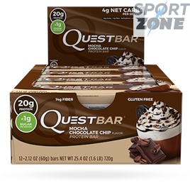 Батончики QuestBar Mocha Chocolate Chip (12 бат)