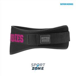 Неопреновый пояс Better Bodies Womens Gym Belt, Black/Pink
