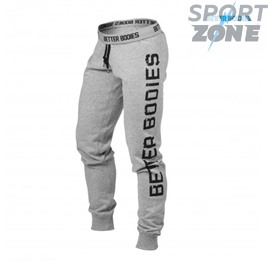 Спортивные штаны хлопок Better bodies Slim sweatpant,  серые