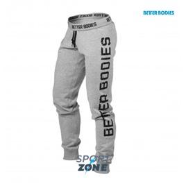 Спортивные штаны хлопок Better bodies Slim sweatpant,  серые