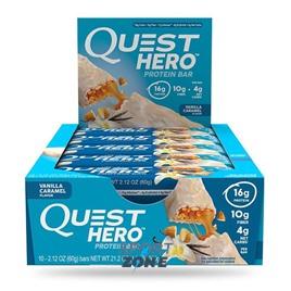 Батончик протеиновый Quest Hero Bar Vanilla Caramel (10 бат)