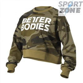 Свитшот Better Bodies Chelsea Sweater, Dark Green Camo