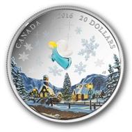 Канада 2016 20 Ангел Венецианское стекло серебро