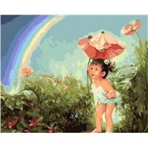 "Картина для рисования по номерам ""Ангел и радуга"" арт. GX 7052 m"