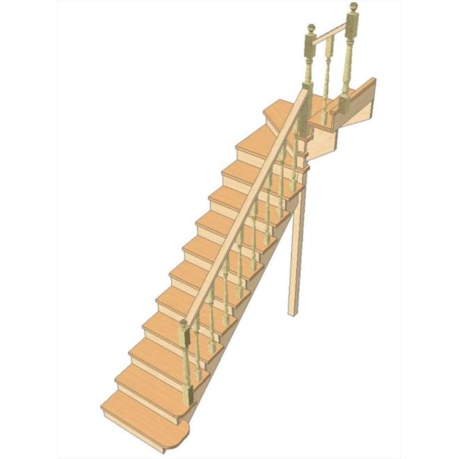 Лестница своими руками с поворотом на 90 176