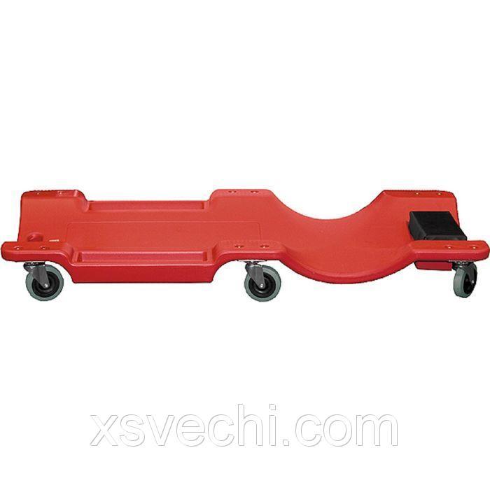 Лежак ремонтный на 6-ти колесах MATRIX, 1000 х 475 х 128 мм, пластиковый
