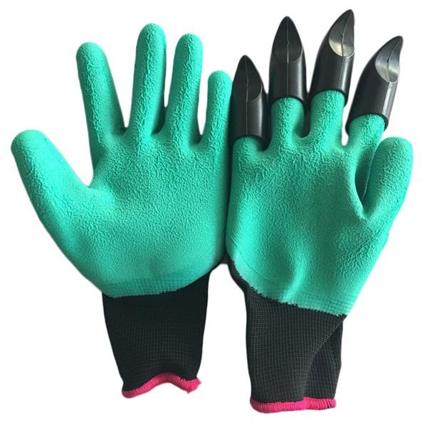Садовые перчатки с когтями Garden Genie