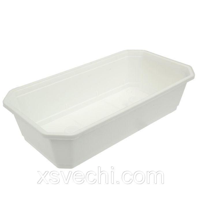 Ящик для рассады, 45 х 24 х 12 см, белый