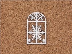 Двухслойный чипборд Окно со снежным узором