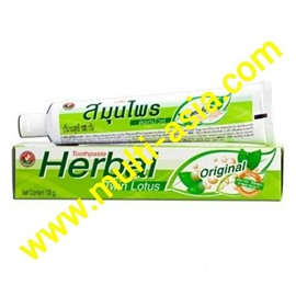 Тайская зубная паста Twin Lotus Original Herbal 100g