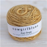 Пряжа Aran Single solid Карамель, 120м/100г., Cowgirlblues, Caramel