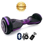 Гироскутер Hoverbot A6 Premium кислотно-фиолетовый (приложение + Bluetooth-музыка + 3 режима работы + пульт + сумка)