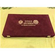 Коробка для монет с бархотным покрытием (БЕЗ МОНЕТ!)