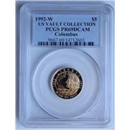 5 долларов США золото Колумб 1992