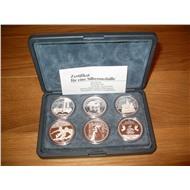 Набор монет - медалей Олимпиада Москва, Барселона