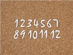 Набор цифр от 1 до 12 (8)