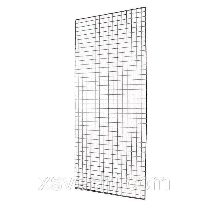 Сетка торговая, 1500*400мм, хром (порошковое покрытие), окантовка - 8мм, пруток - 4мм