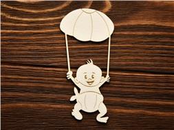 Малыш с парашютом