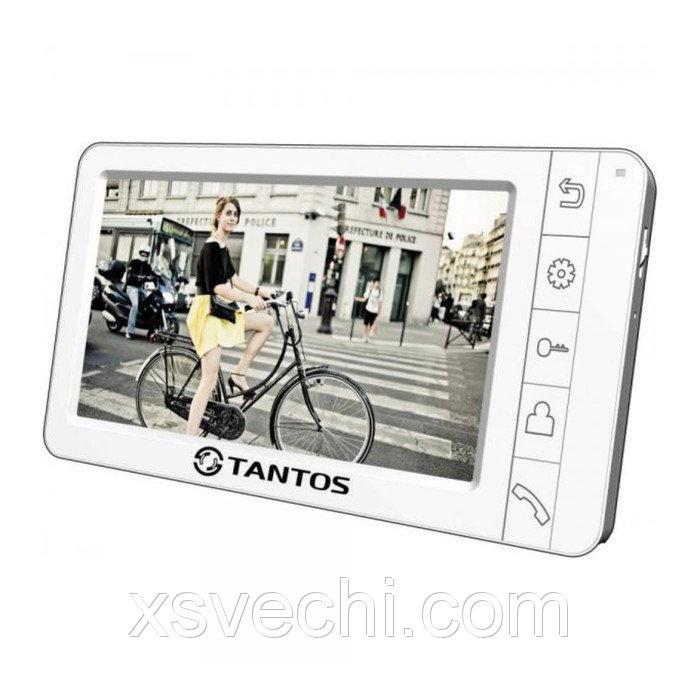 """Монитор видеодомофона Tantos Amelie (White), 7"""", hands free, подключение видеокамер"""