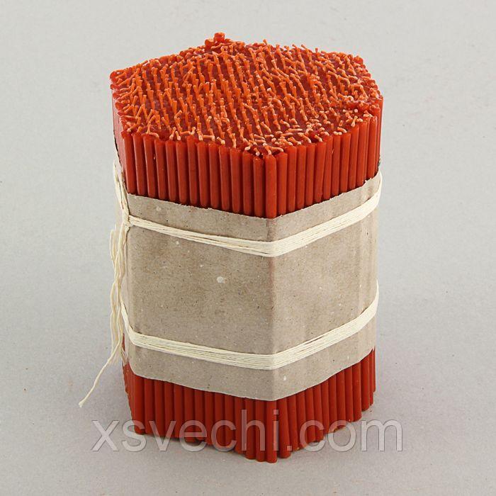 Свечи красные церковные №100 (набор 500шт.)