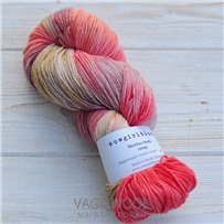 Пряжа Merino Sock multicolor рубиновый грейпфрут/коралл/карамель/выцветшая роза, 320м/100г, Cowgirlblues