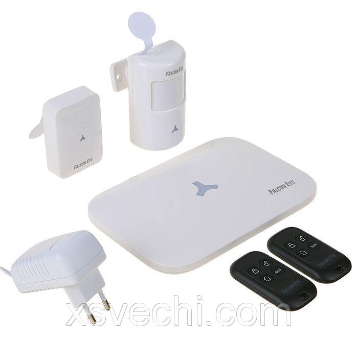 Комплект сигнализации GSM Falcon Eye FE Next, контроль с мобильного