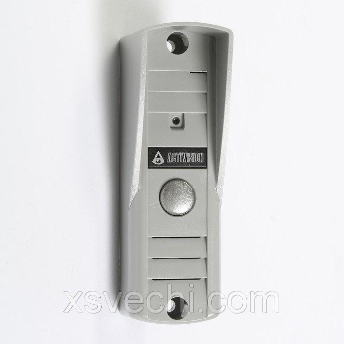 Вызывная панель Activision AVP-505, видео 420 ТВЛ, светло серая, козырек
