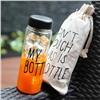 Оригинальная бутылка My Bottle (МАЙ БАТЛ) в мешочке черная