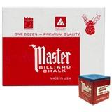 """Мел """"Master"""" (12 шт) синий, интернет-магазин товаров для бильярда Play-billiard.ru"""