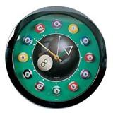 """Часы настенные """"12 шаров"""" D30см, интернет-магазин товаров для бильярда Play-billiard.ru"""